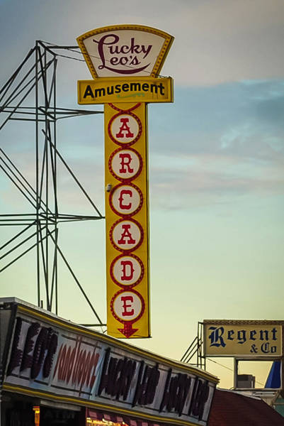 Photograph - Lucky Leos Seaside Nj Boardwalk by Terry DeLuco