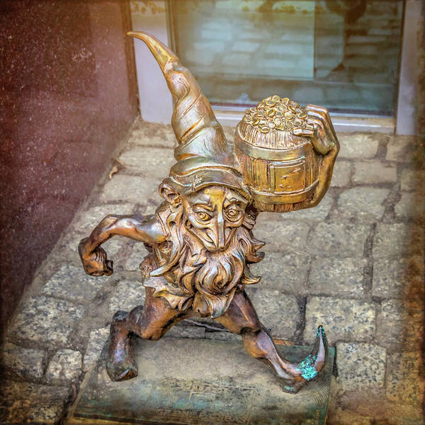 Wall Art - Photograph - Lucky Leprechaun Dwarf In Wroclaw Poland by Carol Japp