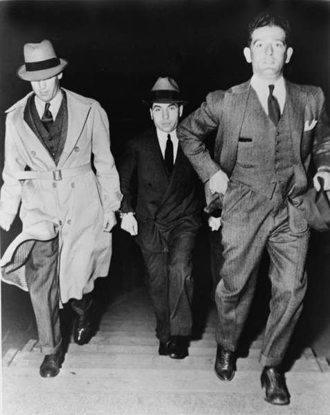 Luciano Wall Art - Photograph - Lucky Luciano 1896-1962, Being Escorted by Everett