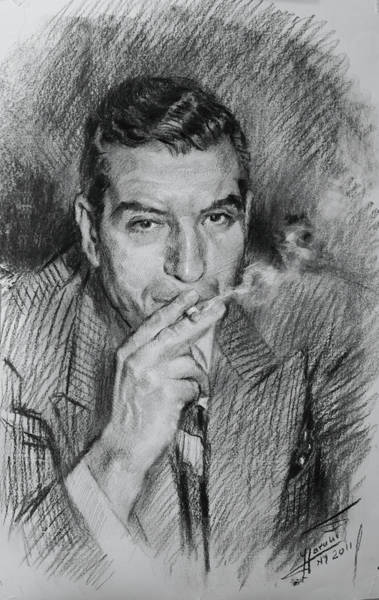 Wise Wall Art - Drawing - Lucky Luciano by Ylli Haruni