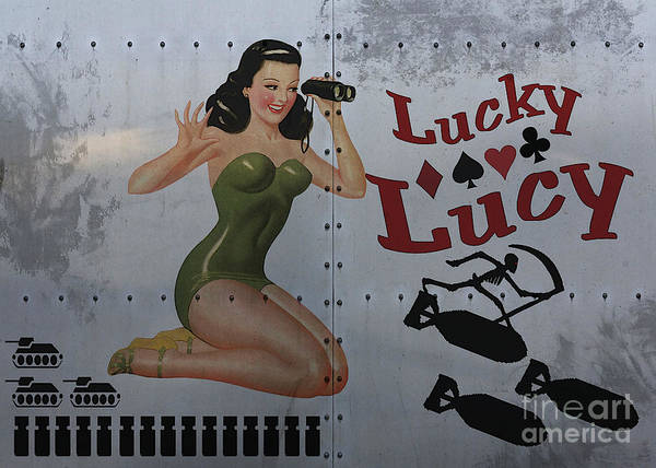 Bomber Painting - Lucky Lucy Noseart by Cinema Photography