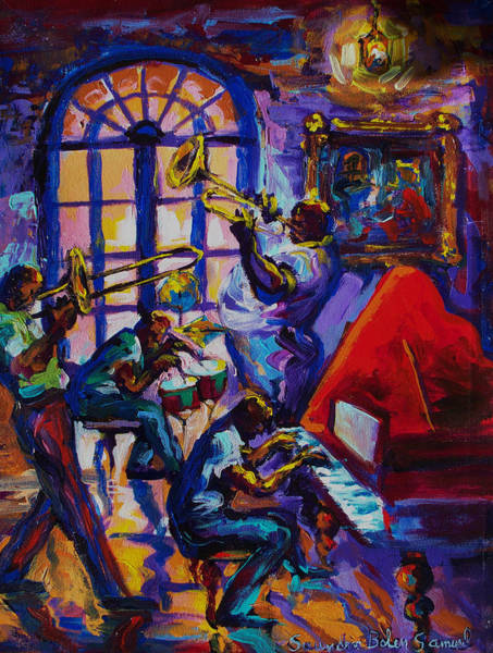Wall Art - Painting - Lucky Pierre's Pleasure New Orleans by Saundra Bolen Samuel