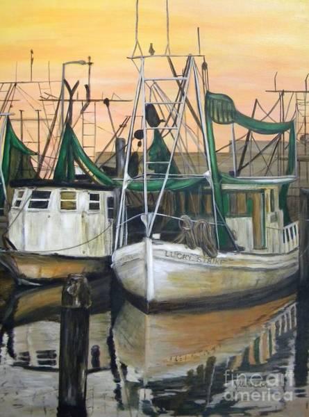 Shrimp Painting - Lucky Strike by JoAnn Wheeler