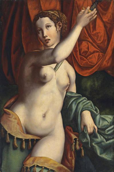 Wall Art - Painting - Lucretia by Leonardo da Pistoia