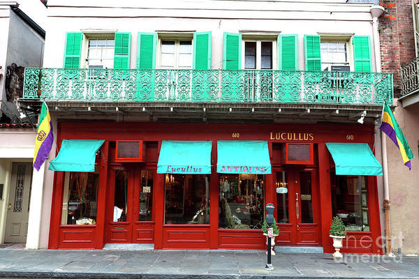 Wall Art - Photograph - Lucullus Antiques New Orleans by John Rizzuto