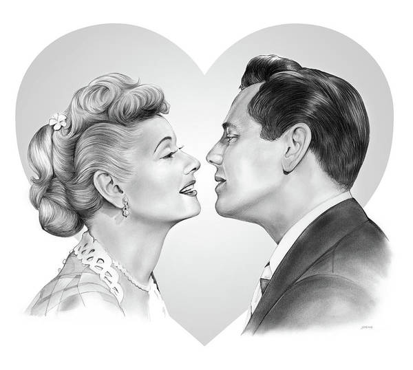 Ball Wall Art - Drawing - Lucy And Desi by Greg Joens