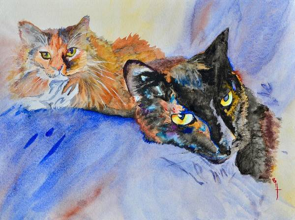 Lula Wall Art - Painting - Lucy And Lula by Beverley Harper Tinsley