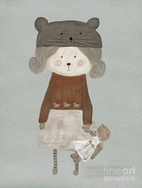 Teddy Bear Painting - Lucy Bear by Bri Buckley