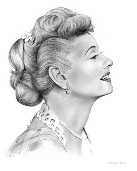 I Love Lucy Wall Art - Drawing - Lucy by Greg Joens