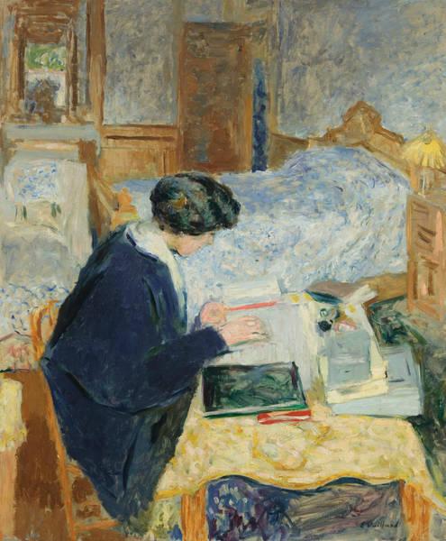 Painting - Lucy Hessel Reading by Edouard Vuillard