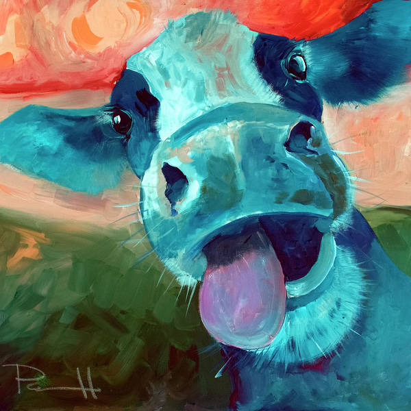 Barnyard Animal Painting - Lucy by Sean Parnell