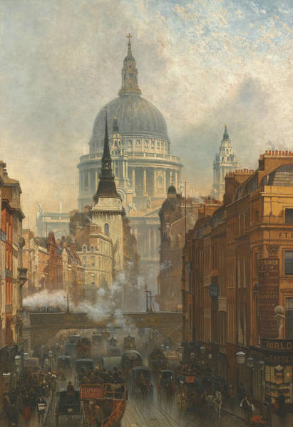Painting - Ludgate, Evening by John O'Connor