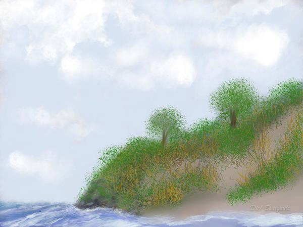 Digital Art - Ludington Dunes by Dick Bourgault
