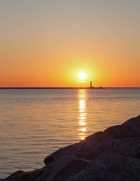 Photograph - Ludington Sunset by Fran Riley