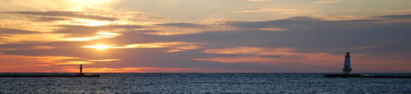 Northern Michigan Photograph - Ludington Sunset Panorama by Twenty Two North Photography