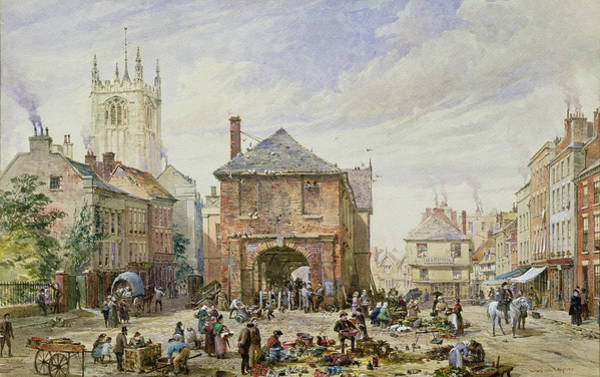 Square Tower Painting - Ludlow by Louise J Rayner