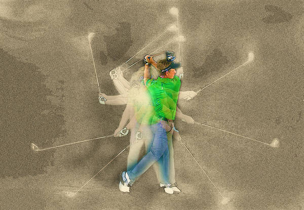 Rory Mcilroy Digital Art - Luke Donald Of England Swings His Driver In A Studio Portrait by Don Kuing
