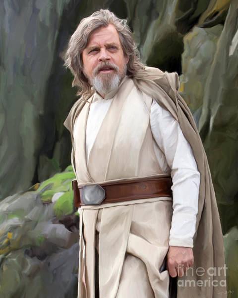 Back Painting - Luke Skywalker by Paul Tagliamonte