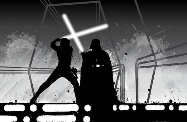 Wall Art - Digital Art - Luke Vs Vader by Nathan Shegrud