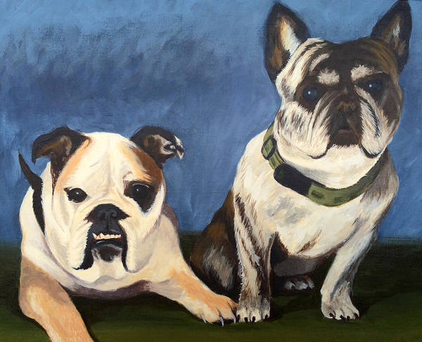 Painting - Lulu And Otis by Dustin Miller