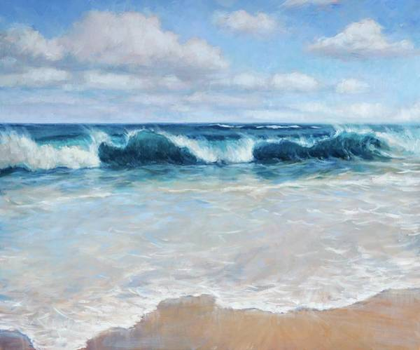 Wall Art - Painting - Lumahai Surf by Jenifer Prince