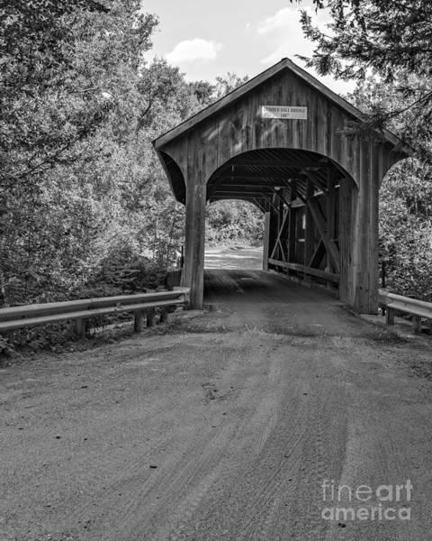 Smugglers Notch Photograph - Lumber Mill Bridge Belvidere Vermont by Edward Fielding