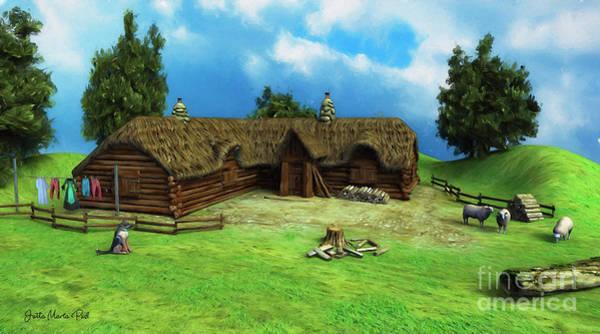 Digital Art - Lumberjack Idyll by Jutta Maria Pusl