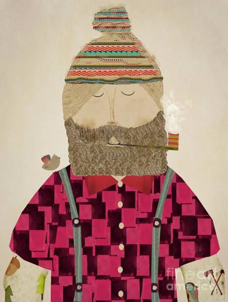 Frontier Wall Art - Painting - Lumberjack Jim by Bri Buckley