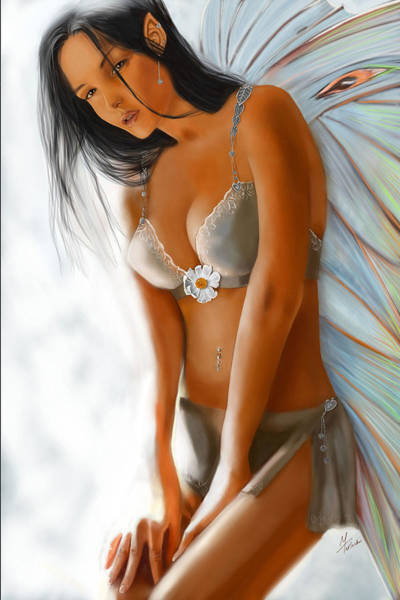 Pixie Painting - Lumiere by Maggie Terlecki