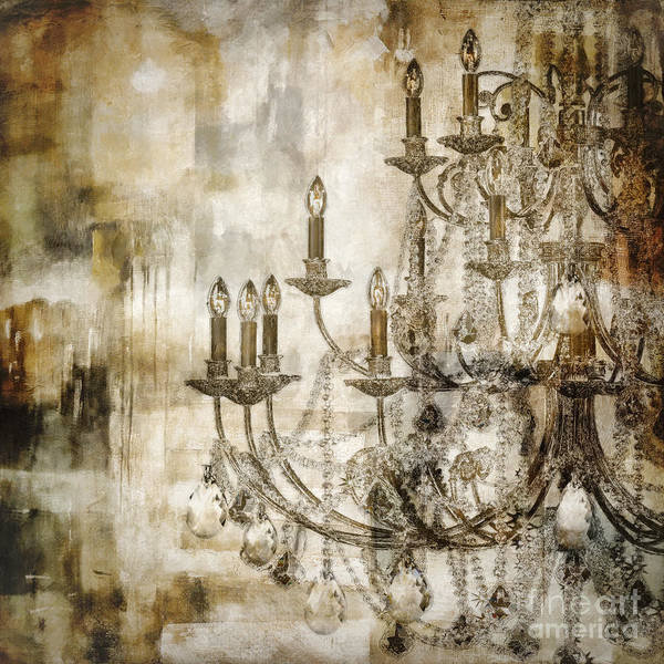 Chandelier Wall Art - Painting - Lumieres II by Mindy Sommers