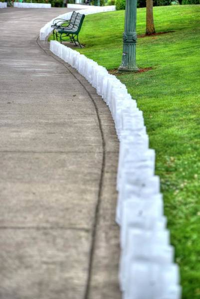 Photograph - Luminaries And Bench by Jerry Sodorff