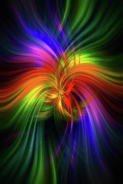 Blast Wave Wall Art - Photograph - Luminescent Rainbow.  Mystery Of Colors  by Jenny Rainbow
