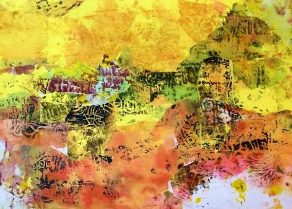 Spring Mountains Mixed Media - Luminous Hilltops by Chava Silverman
