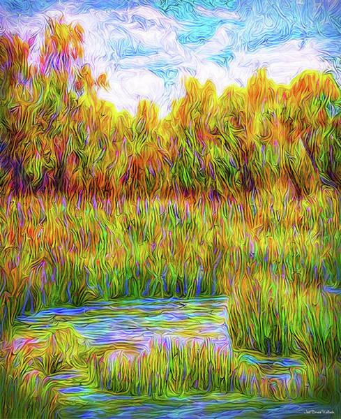 Digital Art - Luminous Peace Pool by Joel Bruce Wallach