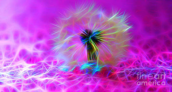 Neon Lights Digital Art - Luminous Wish by Krissy Katsimbras