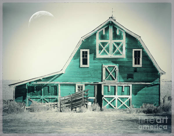 Wall Art - Painting - Luna Barn Teal by Mindy Sommers
