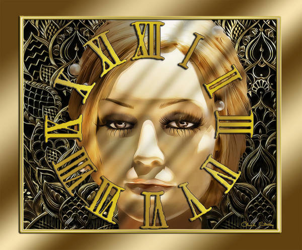 Digital Art - Luna Clock by Chuck Staley