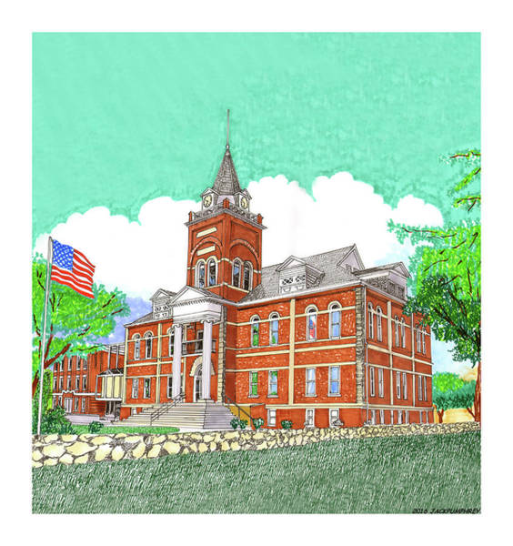 Courthouse Painting - Luna County Court House  Deming  N M   by Jack Pumphrey