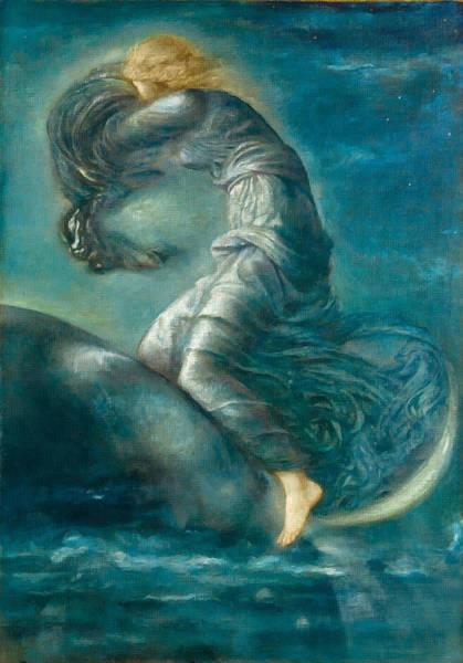 Painting - Luna  by Edward Burne-Jones