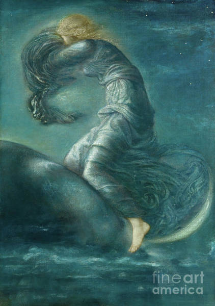 Skyscape Painting - Luna by Edward Coley Burne-Jones