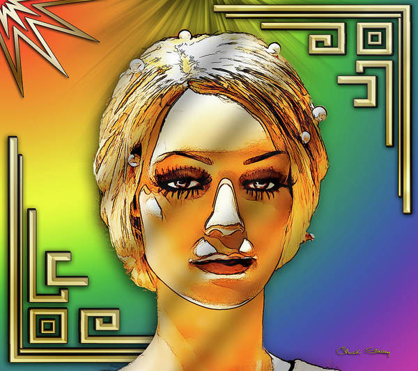 Digital Art - Luna Loves Deco by Chuck Staley