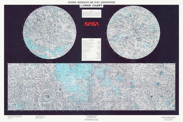 Wall Art - Drawing - Lunar Chart From 1979 By Nasa by Blue Monocle