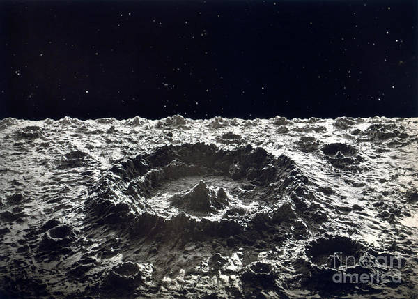 Photograph - Lunar Crater, 1874.  by Granger