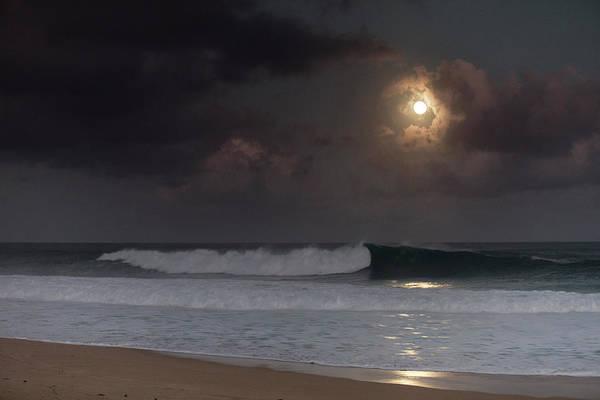 Super Moon Photograph - Lunar Crest by Sean Davey