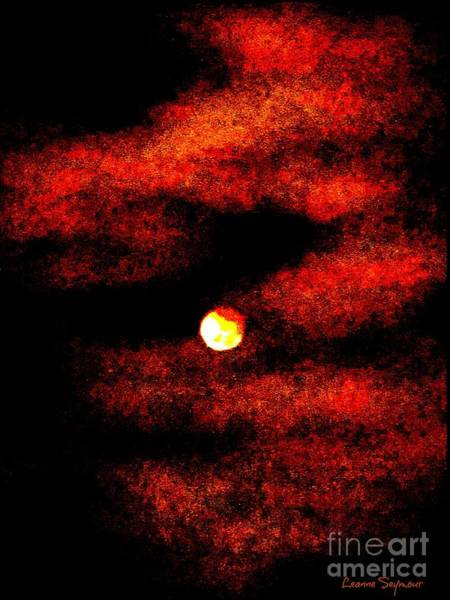 Eclipse Mixed Media - Lunar Eclipse In Abstract by Leanne Seymour