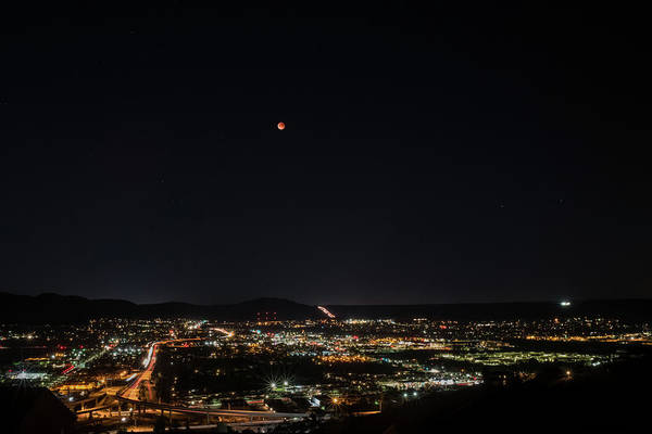 Photograph - Lunar Eclipse Over Santee by TM Schultze