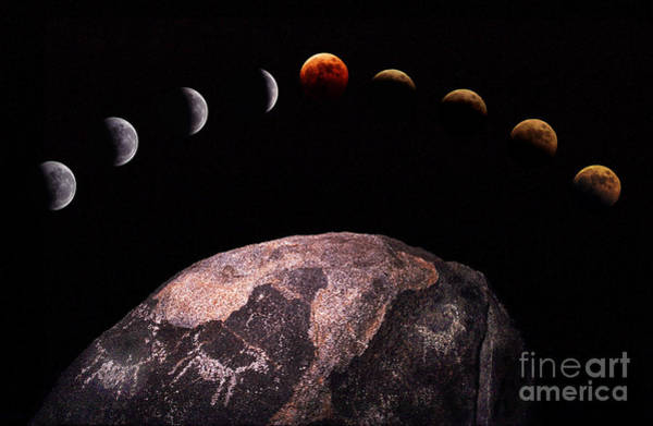 Photograph - Lunar Eclipse Sequence by Kent Wood