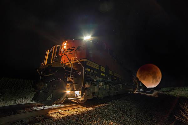 Blood Moon Wall Art - Photograph - Lunar Express  by Aaron J Groen