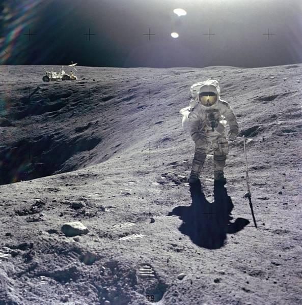 Photograph - Lunar Module Pilot Of The Apollo 16 Mission by Artistic Panda