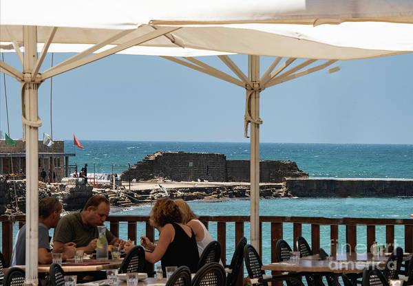 Photograph - Lunch At The Mediterranean by Mae Wertz